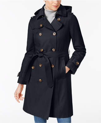 London Fog Hooded Belted Trench Coat $180 thestylecure.com