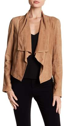 Cole Haan Suede Open Front Jacket