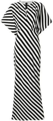 Norma Kamali striped long dress