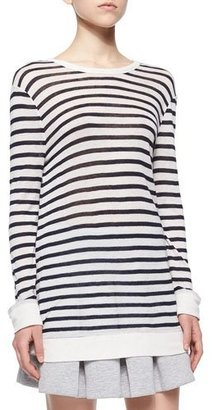 T by Alexander Wang Long-Sleeve Striped Tee, Ink/Ivory $140 thestylecure.com