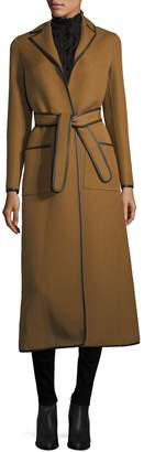Valentino Women's Contrast Trimmed Wool Coat
