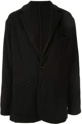 Loveless front zipped pockets blazer