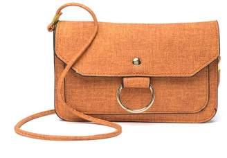 Isabella Collection Rhea Ring Leather Clutch Crossbody
