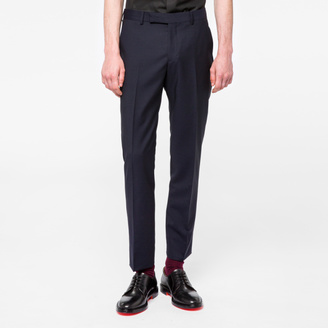 Men's Slim-Fit Navy 'A Suit To Travel In' Wool Trousers $420 thestylecure.com