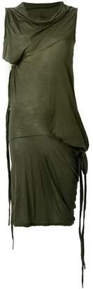 Rick Owens tie detailed dress