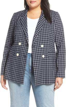 Halogen Double Breasted Check Blazer
