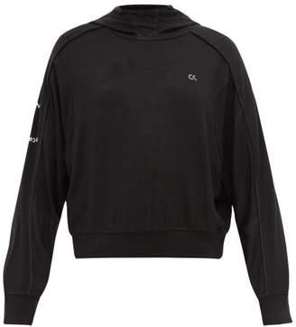 Calvin Klein Back Zip Jersey Hooded Sweatshirt - Womens - Black
