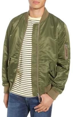Frame Slim Fit Nylon Bomber Jacket