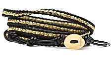 Chan Luu Nugget Wrap Bracelet: Black