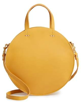 Clare Vivier Petit Alistair Leather Circular Crossbody Bag