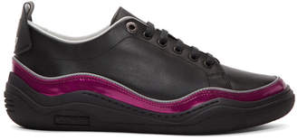 Lanvin Black and Pink Contrast Sneakers