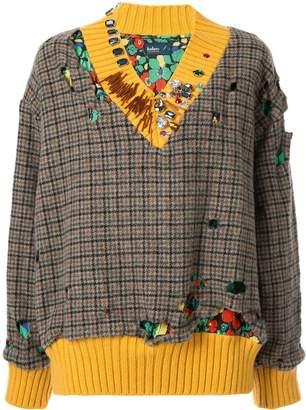 Kolor check print sweater