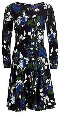 Lela Rose Women's Floral Georgette Fit-&-Flare Dress