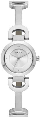 DKNY Women's City Link Stainless Steel Half-Bangle Bracelet Watch 24mm, Created for Macy's