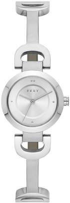 DKNY Women's City Link Stainless Steel Half-Bangle Bracelet Watch 24mm