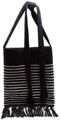 J.W.Anderson Breton stripe-intarsia bag