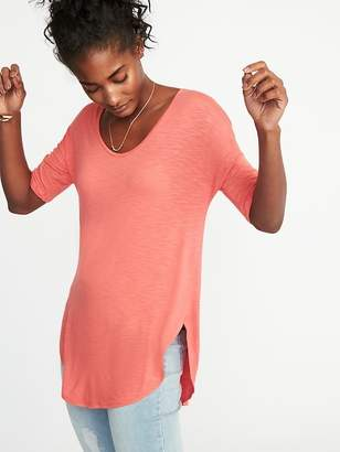 Old Navy Relaxed Luxe Slub-Knit Tunic for Women