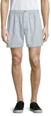 Snapper Stretch-Waist Cotton Shorts