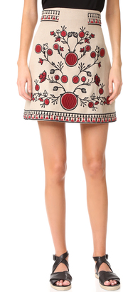 Whistles Delia Embroidered Skirt $389 thestylecure.com