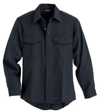 "WORKRITE Workrite Flame Resistant Collared Shirt, Navy, Nomex(R), 48"", 705NX45NB"