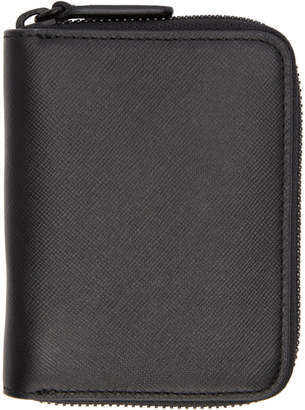 Common Projects Black Saffiano Zip Wallet