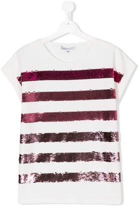 Patrizia Pepe Junior TEEN sequin embellished T-shirt
