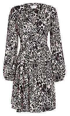 Milly Women's Gina Leopard Flare Dress