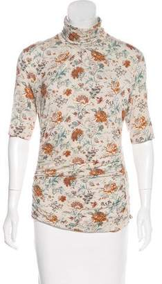 Etro Floral Short Sleeve Top