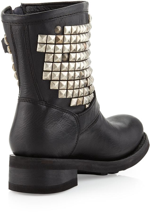 Ash Titanic Studded Boot, Black