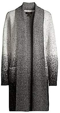 Donna Karan Women's Speckle Print Open Front Cardigan