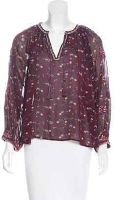 Ulla Johnson Silk Long Sleeve Top
