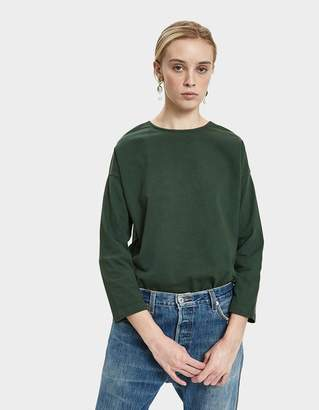 Jesse Kamm Camper Long Sleeve Top in Forest Green