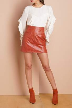 Greylin Vegan Leather Skirt