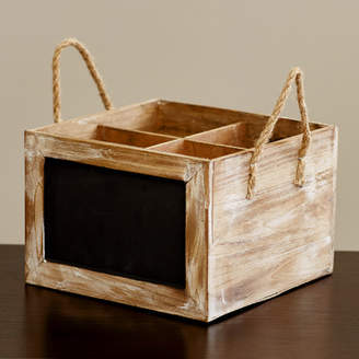 August Grove Wine Carrier Chalkboard Box Wood Crate