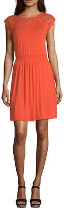 Spense Short Sleeve Blouson Dress