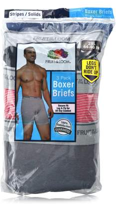 Fruit of the Loom Plus Size Men Solid &Stripes Boxer Briefs