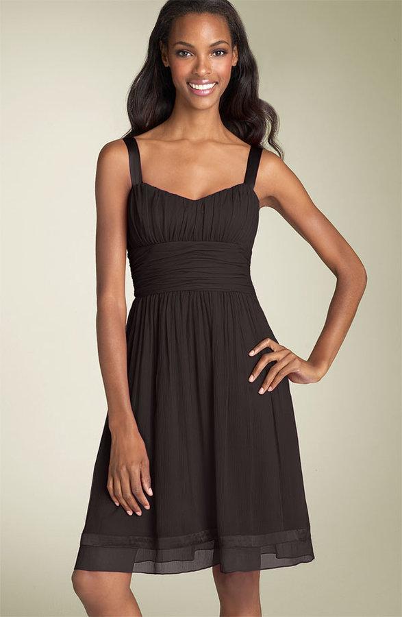 Tahari by Arthur S. Levine Crinkle Chiffon Dress