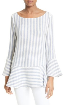 Women's Alice + Olivia Doyle Linen Blend Tunic $250 thestylecure.com