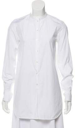 Celine High-Low Button-Up Top
