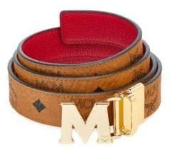 MCM Reversible Leather Logo Belt