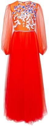 Carolina Herrera embroidered tulle dress