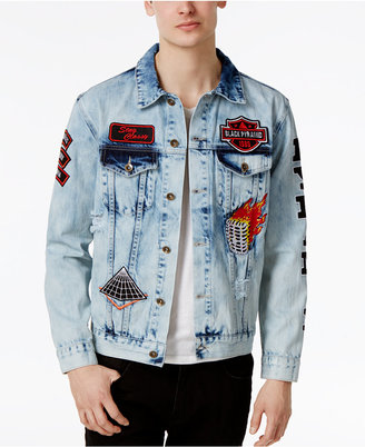 Black Pyramid Men's Patch Cotton Denim Jacket $180 thestylecure.com