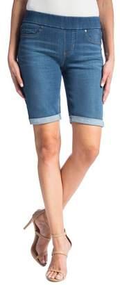 Liverpool Sienna Pull-On Denim Bermuda Shorts