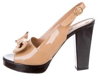 Saint LaurentYves Saint Laurent Bow Slingback Sandals