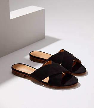 LOFT Criss Cross Slide Sandals
