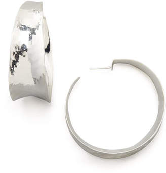 NEST Jewelry Hammered Silver Hoop Earrings