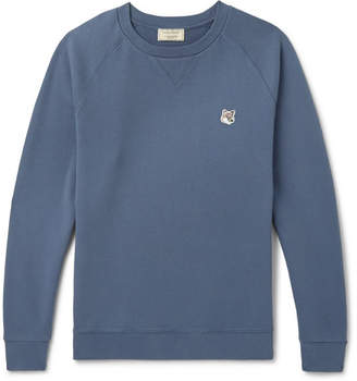 MAISON KITSUNÉ Loopback Cotton-Jersey Sweatshirt