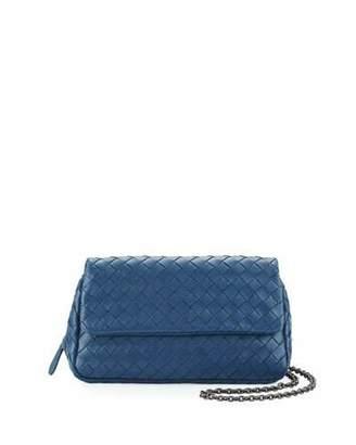 Bottega Veneta Intrecciato Small Chain Crossbody Bag, Cobalt Blue $1,380 thestylecure.com