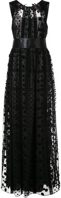 Marchesa Notte embellished sheer panel gown $995 thestylecure.com