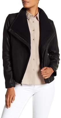 T Tahari Andreas Leather Jacket